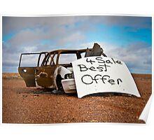 Best Offer Burned Out Car Poster
