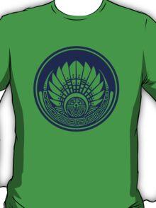 Mayan mask, crop circle, Quetzalcoatl T-Shirt