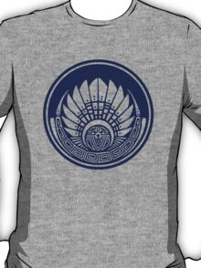 Mayan mask, crop circle, Quetzalcoatl T-Shirt