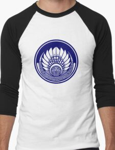 Mayan mask, crop circle, Quetzalcoatl Men's Baseball ¾ T-Shirt