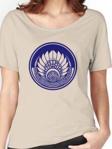 Mayan mask, crop circle, Quetzalcoatl Women's Relaxed Fit T-Shirt