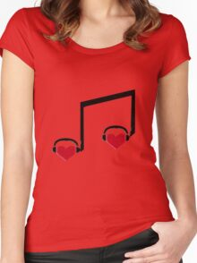 Music Connects Us to Our Soulmates Women's Fitted Scoop T-Shirt