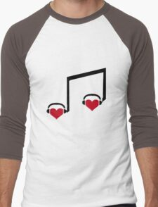 Music Connects Us to Our Soulmates Men's Baseball ¾ T-Shirt