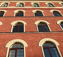 facade of a brick house by mrivserg