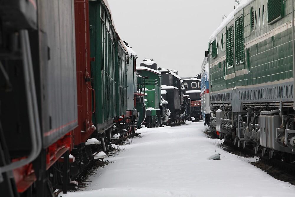 Railway station in winter by mrivserg