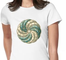 SEED OF LIFE, TUBE TORUS, SACRED GEOMETRY Womens Fitted T-Shirt