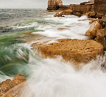 Waves crashing over Portland Bill by Ian Middleton