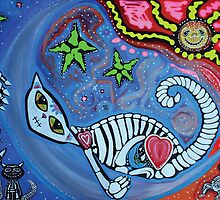 Luna's Dream - Fantasy Cat Art by Laura Barbosa