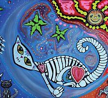 Luna's Dream - Fantasy Cat Art by Laura Barbosa