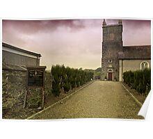 Entrance to Irish Parish Church in Saintfield Poster