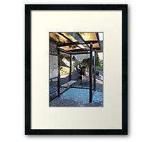 Suburban Bus Stop II Framed Print
