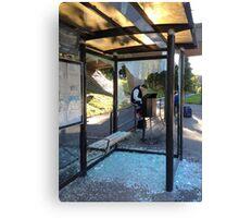 Suburban Bus Stop II Canvas Print