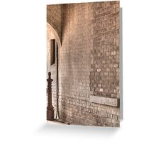 Brickwork Patterns and Textures Greeting Card