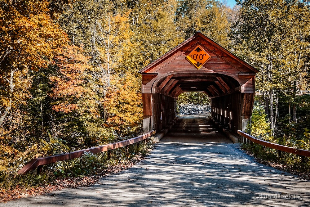 Vermont Covered Bridge by Edward Fielding