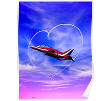 Red Arrows Love Poster