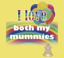 I love both my mummies: lesbian parenting Kids Tee