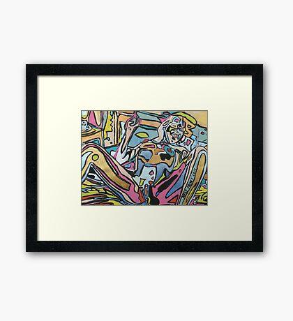 'Smoking Nude' Framed Print