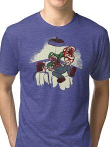Mario Chestburster Tri-blend T-Shirt
