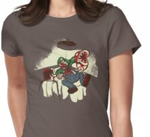 Mario Chestburster Womens Fitted T-Shirt