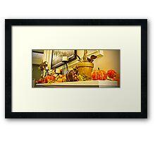 Mantle Full of Pumpkins Framed Print