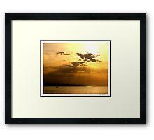 Sunset over Beirut! Framed Print
