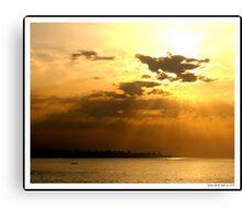 Sunset over Beirut! Canvas Print
