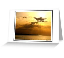 Sunset over Beirut! Greeting Card