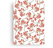 rowanberry on white Canvas Print