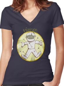 Vintage Voodoo Women's Fitted V-Neck T-Shirt