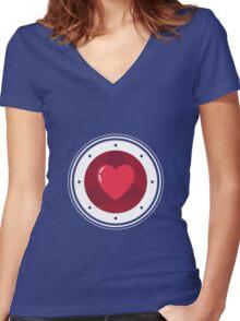 Heart Women's Fitted V-Neck T-Shirt