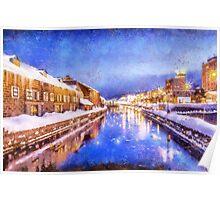Winter in Otaru  Poster