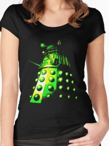 Dalek Gamma – Green/Yellow Women's Fitted Scoop T-Shirt