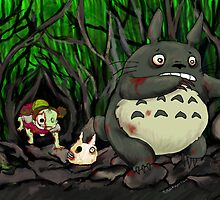 Zombie Totoro by ZombieRodent