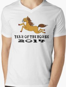 Year of The Horse Mens V-Neck T-Shirt