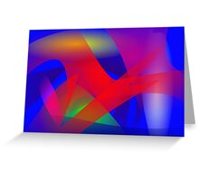 Simple Network by Contrast Art Greeting Card