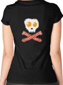 Bacon & Eggs Skull Women's Fitted Scoop T-Shirt