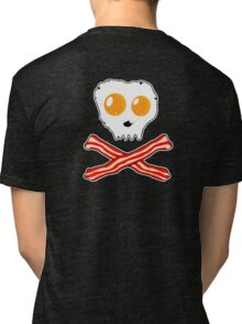 Bacon & Eggs Skull Tri-blend T-Shirt