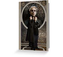 Sherlock Holmes ART NOUVEAU Greeting Card