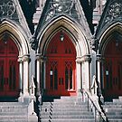 Red Church Doors by Jessie Cousins