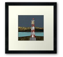 Nighttime Lighthouse Framed Print