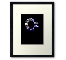 C64 Characters Framed Print