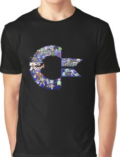 C64 Characters Graphic T-Shirt