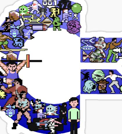 C64 Characters Sticker