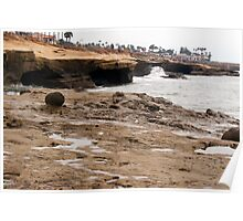 Sunset Cliffs Shoreline 1 Poster