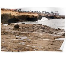 Sunset Cliffs Shoreline 2 Poster