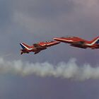 Red arrows fly by. by sandyprints