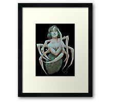 You Know That Tickle On Your Neck? Framed Print