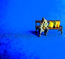 Lonely on a park bench! by Tim Constable