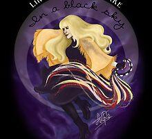 Like a diamond snake in a black sky by LiseRichardson