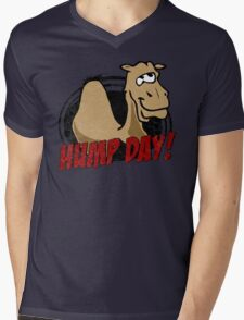 Hump Day Camel - HUMP DAY! - Wednesday is Hump Day - Parody Camel Mens V-Neck T-Shirt